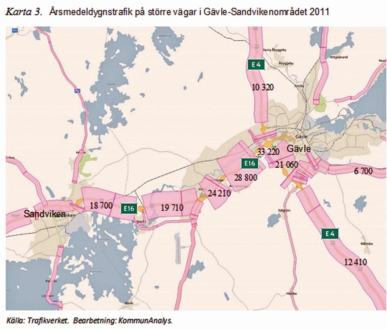 Trafikflödeskarta i regional analys