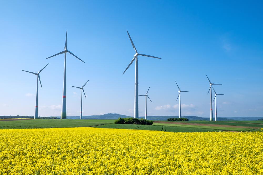Vindkraft i Tyskland. Havsbaserad vindkraft ökar mest. Energiewende.